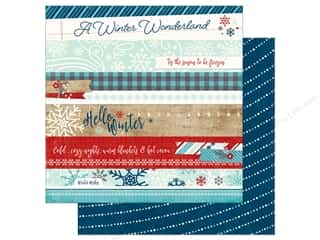 Winter Wonderland: Echo Park A Perfect Winter Paper 12 in. x 12 in. Border Strips (25 pieces)