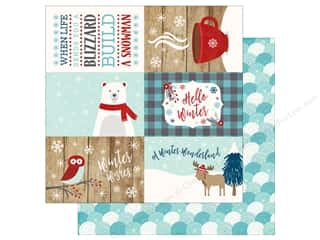 Echo Park A Perfect Winter Paper 12 in. x 12 in. Journaling Cards 4 in. x 6 in. (25 pieces)