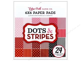 scrapbooking & paper crafts: Echo Park Dot & Stripe Valentine Paper Pad 6 in. x 6 in.