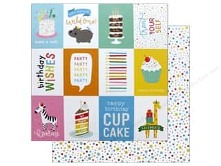 Pebbles Happy Hooray Paper 12 in. x 12 in. Birthday Wishes (25 pieces)