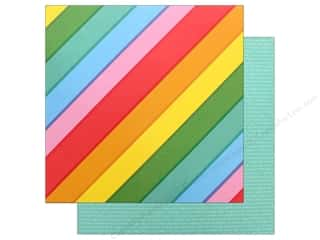 Clearance: Pebbles Happy Hooray Paper 12 in. x 12 in. Rainbowtastic (25 pieces)