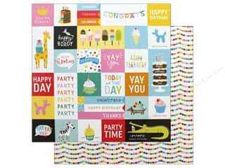 Cardstock: Pebbles Happy Hooray Paper 12 in. x 12 in. Party Time (25 pieces)