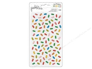 Pebbles Happy Hooray Stickers Enamel Sprinkles