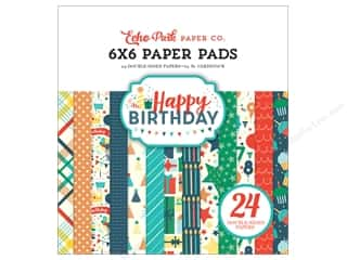Echo Park 6 x 6 in. Paper Pad Happy Birthday Boy