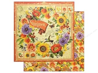 scrapbooking & paper crafts: Graphic 45 12 x 12 in. Paper Seasons Summer (25 pieces)