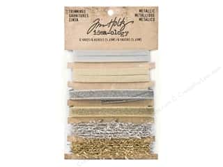 christmas ribbon: Tim Holtz Idea-ology Christmas Metallic Trimming 6 pc
