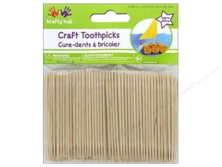 craft & hobbies: Multicraft Krafty Kids Craft Wood Toothpicks 2.5 in. Natural 500 pc