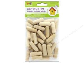 craft & hobbies: Multicraft Krafty Kids Craft Wood Dowel Pins 1.2 in.  Natural 40 pc