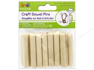 Kids Crafts: Multicraft Krafty Kids Craft Wood Dowel Pins 2.4 in. Natural 24 pc
