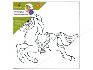 Multicraft Krafty Kids Paint It 8 in. x 8 in. Rocking Horse