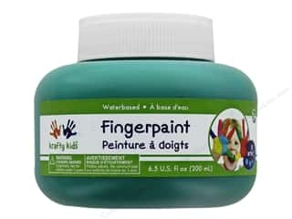 craft & hobbies: Multicraft Krafty Kids Finger Paint Jar 6.5oz Green