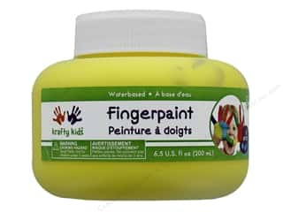 craft & hobbies: Multicraft Krafty Kids Finger Paint Jar 6.5 oz Yellow