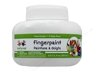craft & hobbies: Multicraft Krafty Kids Finger Paint Jar 6.5 oz White