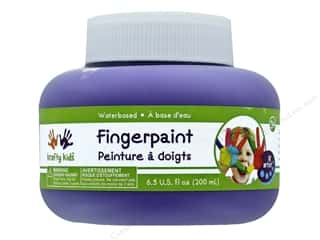 craft & hobbies: Multicraft Krafty Kids Finger Paint Jar 6.5oz Purple