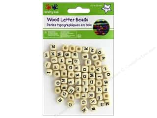 twine: Multicraft Krafty Kids Wood Bead Letters 8 mm 70 pc