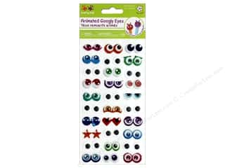 stickers: Multicraft Krafty Kids Sticker Googly Eyes Glitter Cartoon