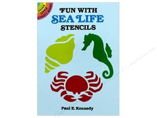 craft & hobbies: Dover Publications Little Fun With Sea Life Stencils Book