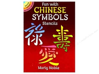 craft & hobbies: Dover Publications Little Fun With Chinese Symbols Stencils Book