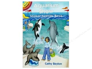 books & patterns: Dover Publications Little Aquarium Show Sticker Activity Book