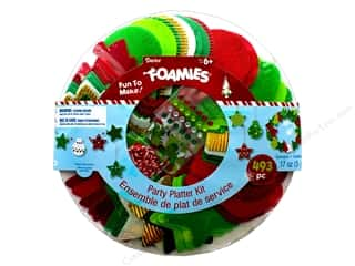 stickers: Darice Foamies Christmas Party Platter Kit