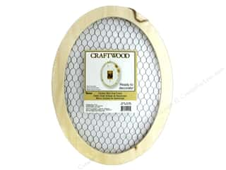 novelties: Darice Decor Craftwood Chickenwire Oval Frame 16 in. x 12 in.