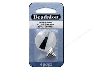 beading & jewelry making supplies: Beadalon Findings Tassel Topper Small Cone 1.3 mm Silver Plate 4 pc