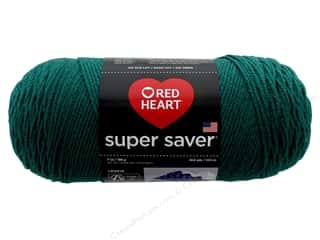 yarn & needlework: Coats & Clark Red Heart Super Saver 4 ply 7 oz Dark Jade
