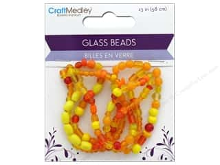 beading & jewelry making supplies: Multicraft Bead Glass Mix 5 Strand Tropical