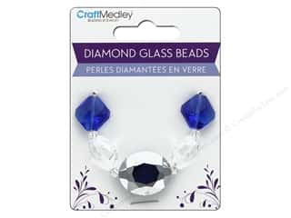 craft & hobbies: Multicraft Bead Glass Strand Oval/Diamond Sapphire