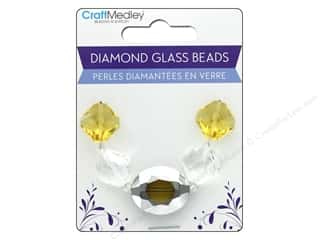 craft & hobbies: Multicraft Bead Glass Strand Oval/Diamond Amber