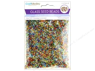 beading & jewelry making supplies: Multicraft Bead Glass Seed Value Pack 7 oz Silverlined