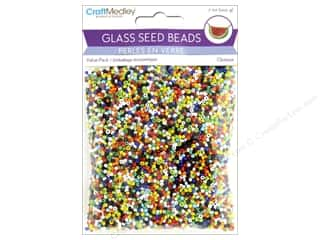 beading & jewelry making supplies: Multicraft Bead Glass Seed Value Pack 7oz Opaque