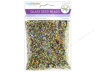 seed beads: Multicraft Bead Glass Seed Value Pack 7 oz Striped