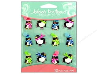 EK Jolee's Boutique Cabochons Holiday Penguins