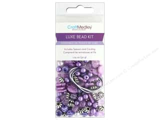 beading & jewelry making supplies: Multicraft Bead Kit Luxe 1.05 oz Purple