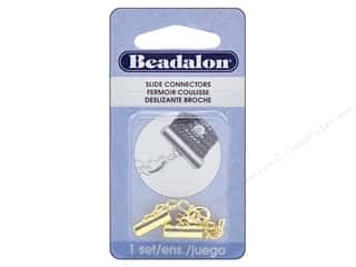 beading & jewelry making supplies: Beadalon Connectors Slide Extension Clasp Lobster 13  mm Gold