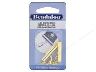 beading & jewelry making supplies: Beadalon Connectors Slide Extension Clasp 26 mm Gold Color