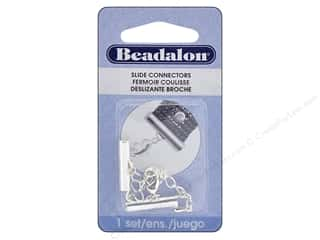 beading & jewelry making supplies: Beadalon Connectors Slide Extension Clasp 20 mm Silver Plate