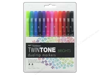 Tombow TwinTone Marker Set Bright 12 pc