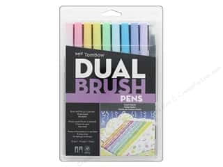 Tombow Dual Brush Pen Set Pastel 10 pc