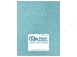 Paper Accents Glitter Cardstock 8 1/2 in. x 11 in. #G09 Sky Blue 5 pc.