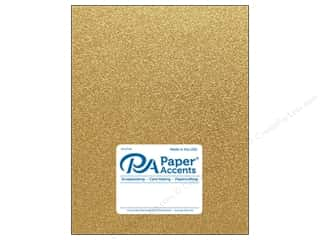 Paper Accents Glitter Cardstock 8 1/2 in. x 11 in. #G10 Gold 5 pc.