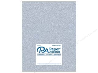 scrapbooking & paper crafts: Paper Accents Glitter Cardstock 8 1/2 x 11 in. #G12 Silver 5 pc.