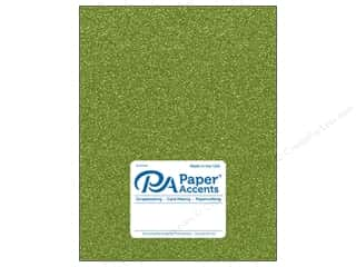 Paper Accents Glitter Cardstock 8 1/2 in. x 11 in. #G25 Olive Green 5 pc.