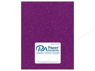 glitter paper: Paper Accents Glitter Cardstock 8 1/2 x 11 in. #G26 Purple 5 pc.