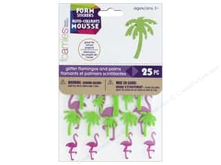stickers: Darice Foamies Sticker Flamingo Palm 25 pc