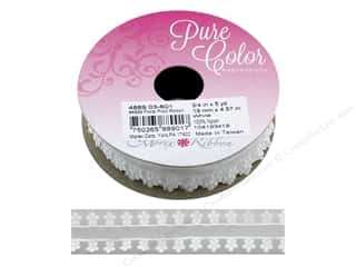 "ribbon: Morex Ribbon Floral Picot .75""x 5 yd White"