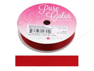 ribbon: Morex Ribbon Double Face Satin 5/8 in. x 10 yd Red