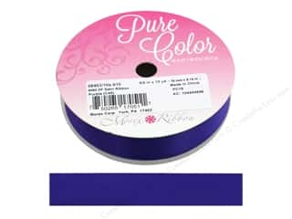 ribbon: Morex Ribbon Double Face Satin 5/8 in. x 10 yd Purple