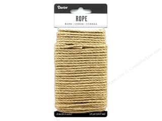 beading & jewelry making supplies: Darice Cord Jute Rope 3 mm x 15 yd Tan